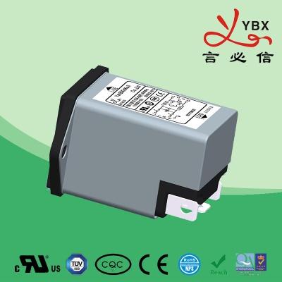 插座+保险丝滤波器YB11-B13-B14
