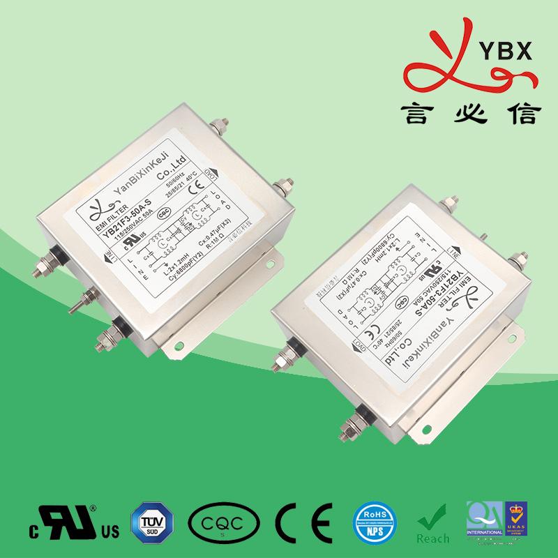21A-50A加强型双极滤波单相电源滤波器