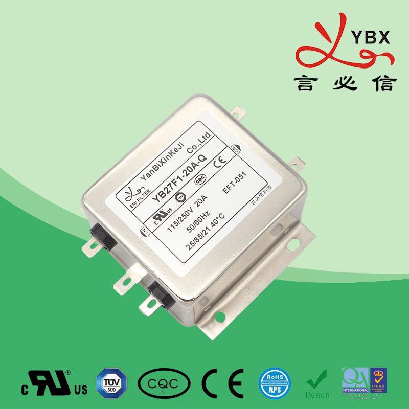 1-10A加强型双极滤波单相电源滤波器