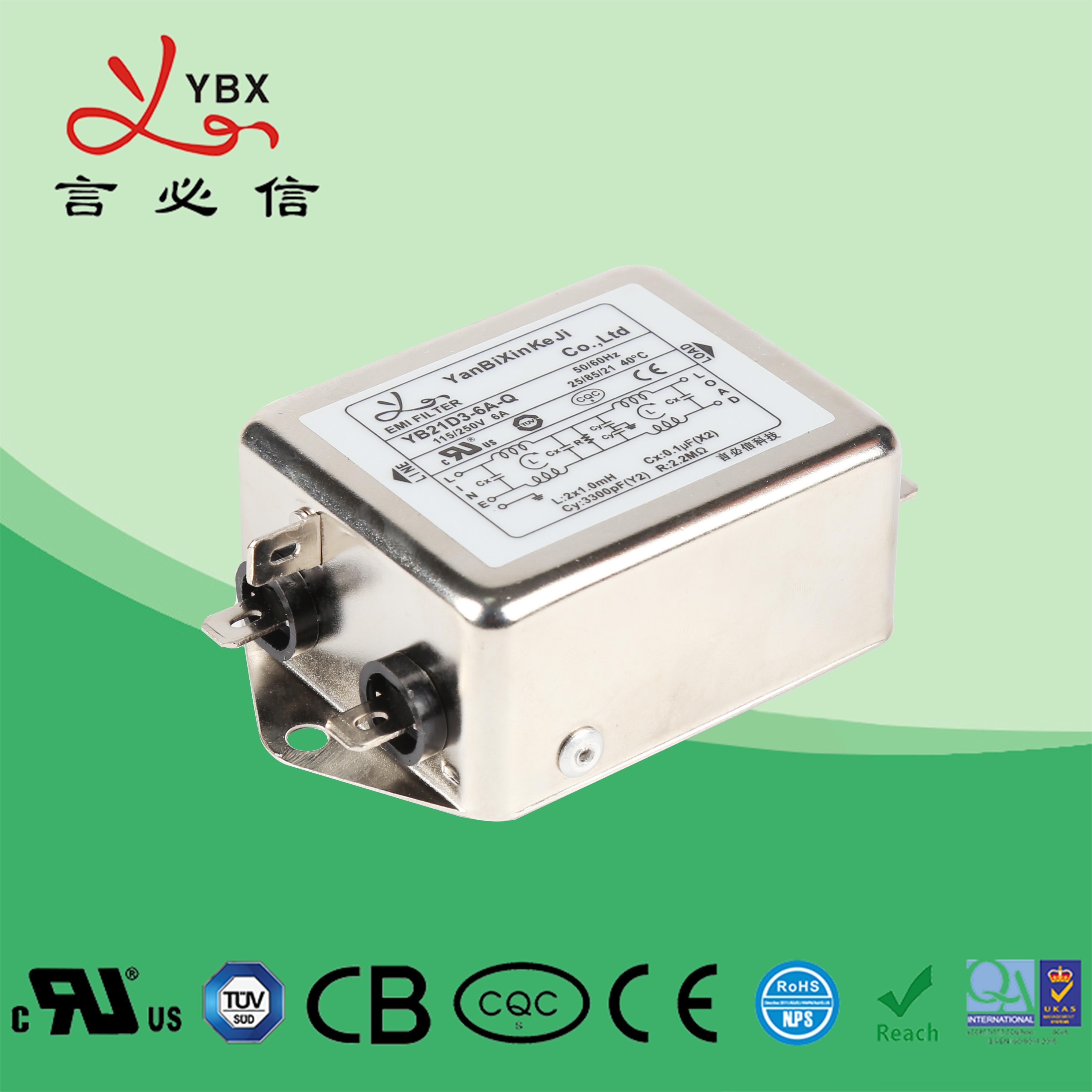 加强型双极滤波单相电源滤波器