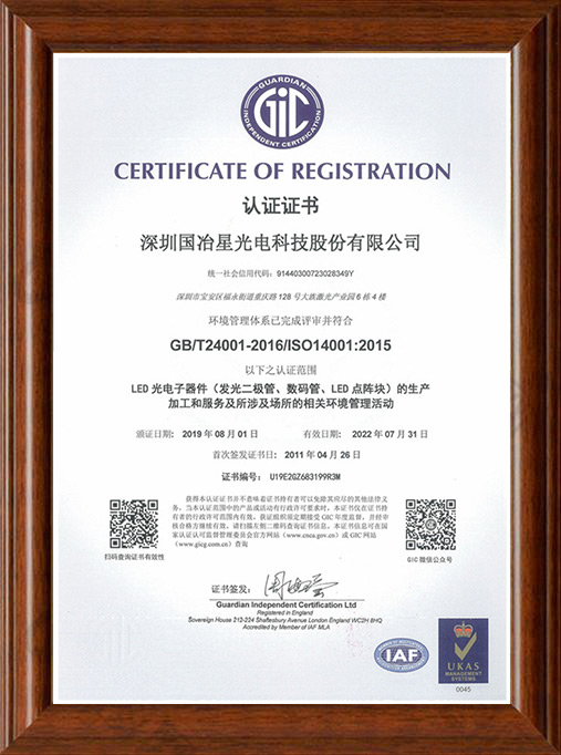 ISO-14001體系認證