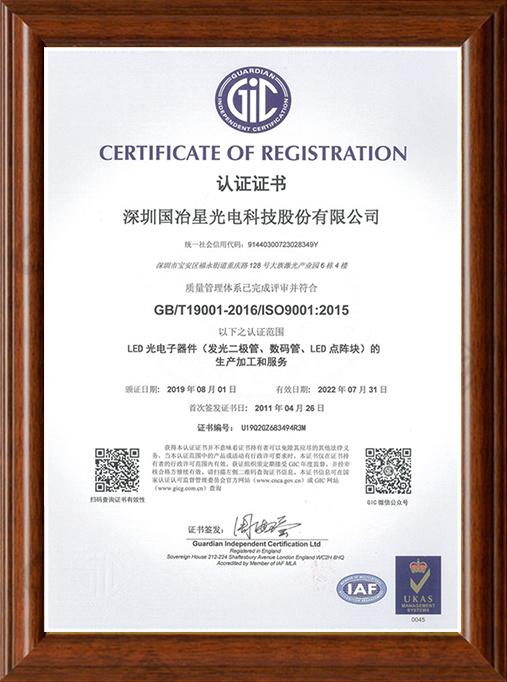 ISO-9001體系認證