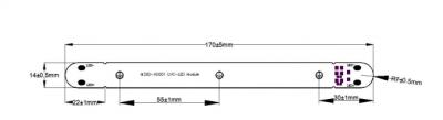 深紫外 uvc-led 模组 灯管 60-80mw uva氛围灯 双芯模组