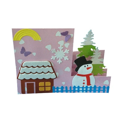 Thick cutting die (large)-stereo folding greeting card RY-HL-JR0003