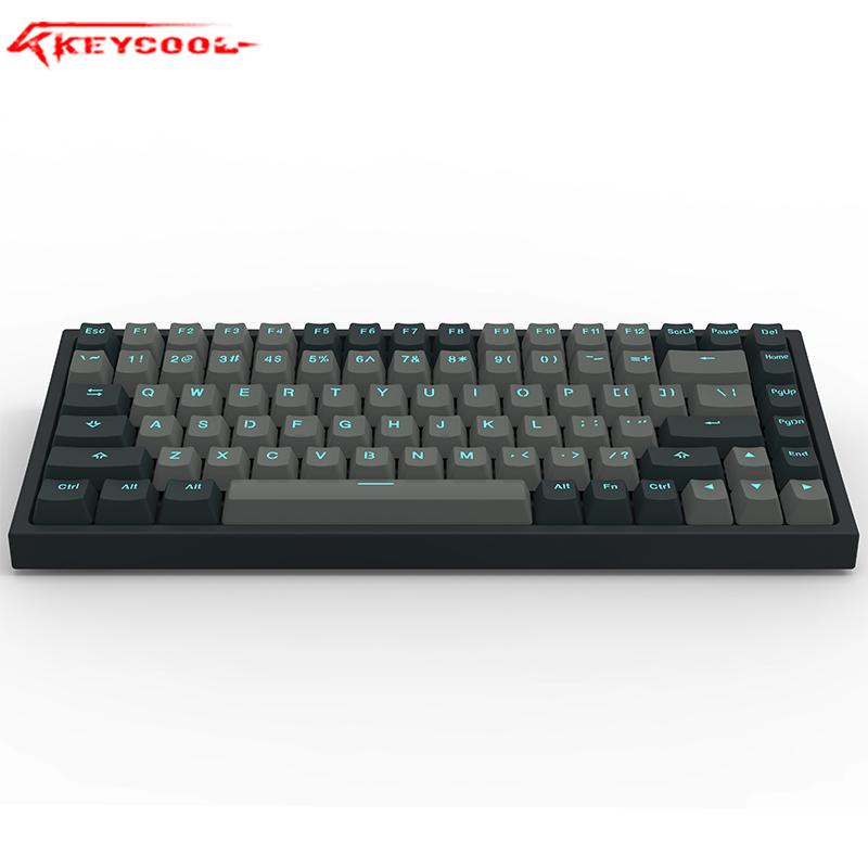 keycool/凯酷 kc84系列 青灰配色 RGB背光 台式游戏机械键盘