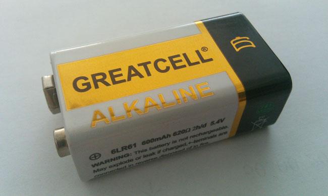 GREATCELL堿性9V