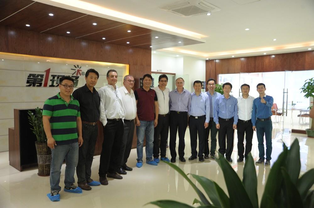 热烈欢迎安森美半导体领导到访深圳市阿拉丁电子有限公司