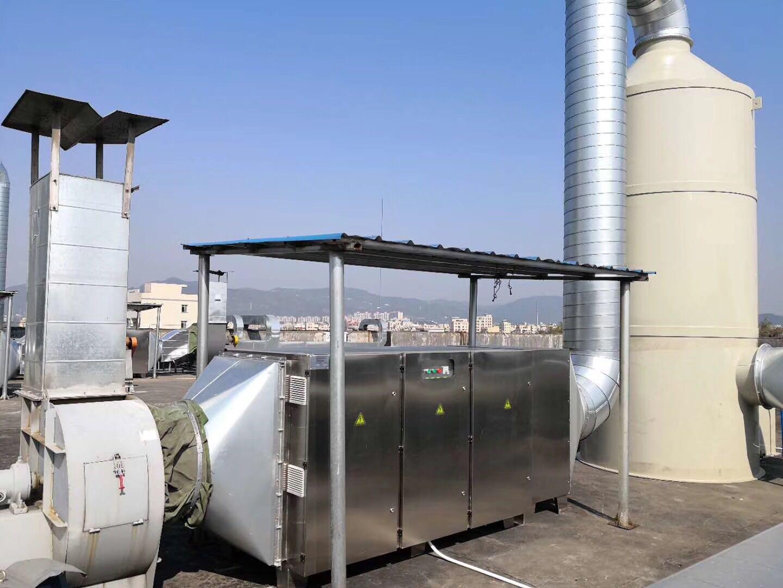 喷淋塔+UV光解设备工程实例