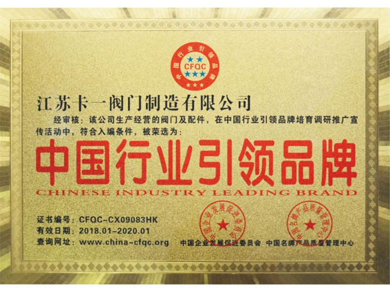 中國行業引領品牌