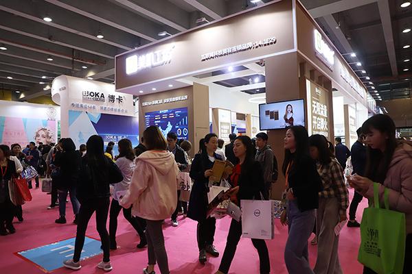 第51届广州美博会现场,美肌工坊直管模式闪耀全场!