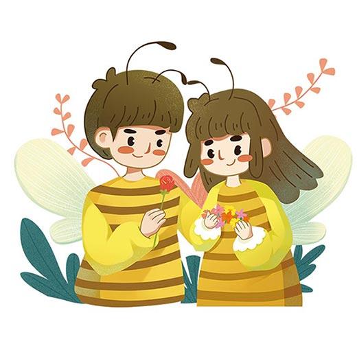 手绘蜂蜜包装