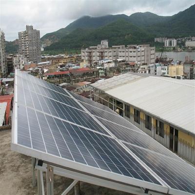 澳門星海中學1.2KW離網光伏發電系統
