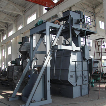 Q32 caterpillar type shot blasting machine