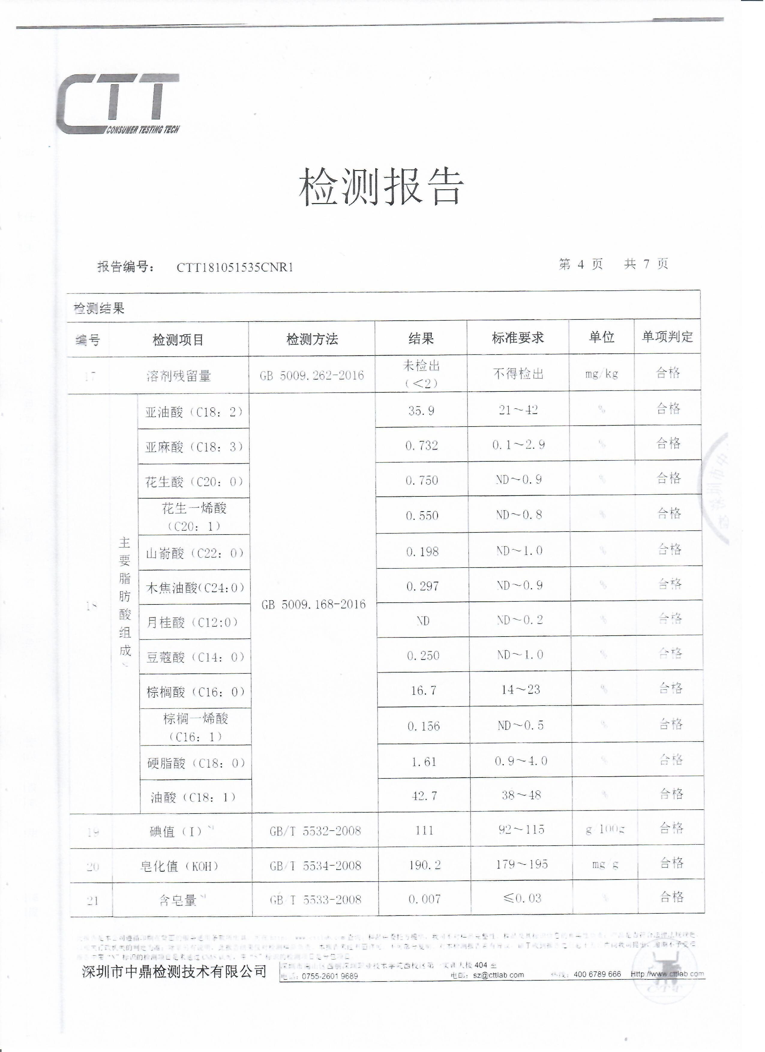 一级稻米油检验报告4