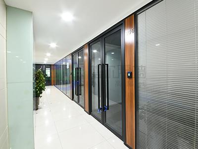 办公室铝合金双玻内置百叶的隔断