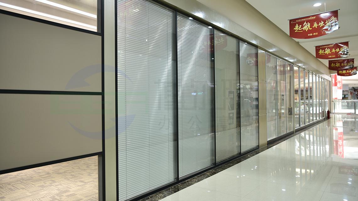 玻璃隔断--之双层玻璃中间夹百叶隔断