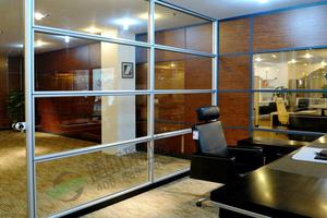 玻璃高隔间 圣奥斯单玻办公高隔
