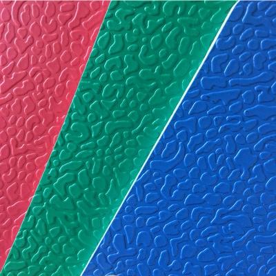 碎石纹5.1mm专业移动式羽毛球比赛专用PVC塑胶 运动场地地板 绿色