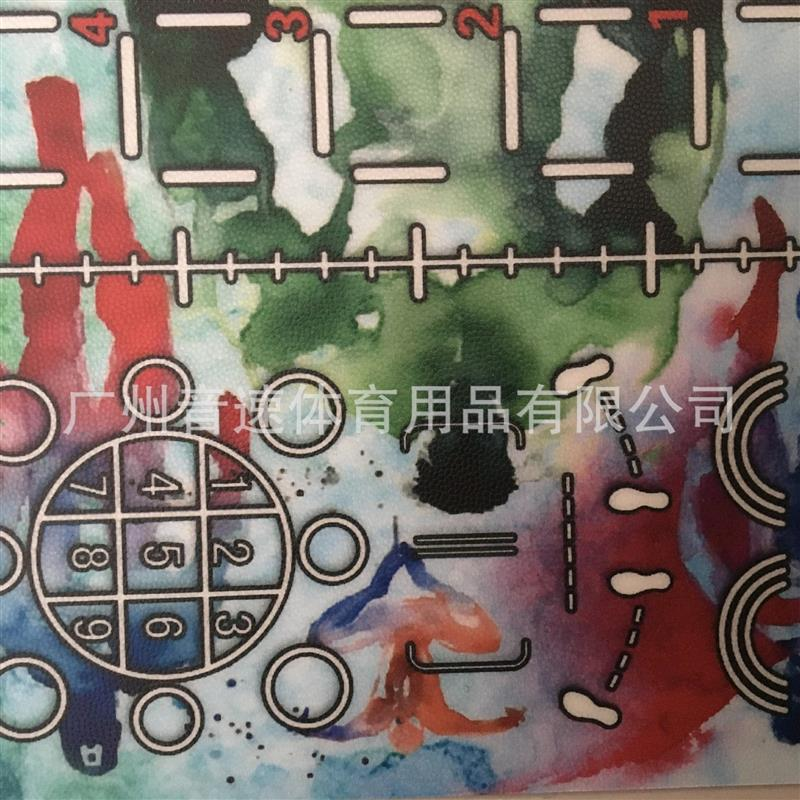多功能私教健身房360塑胶PVC运动地板图案LOGO订制综合训练地板胶