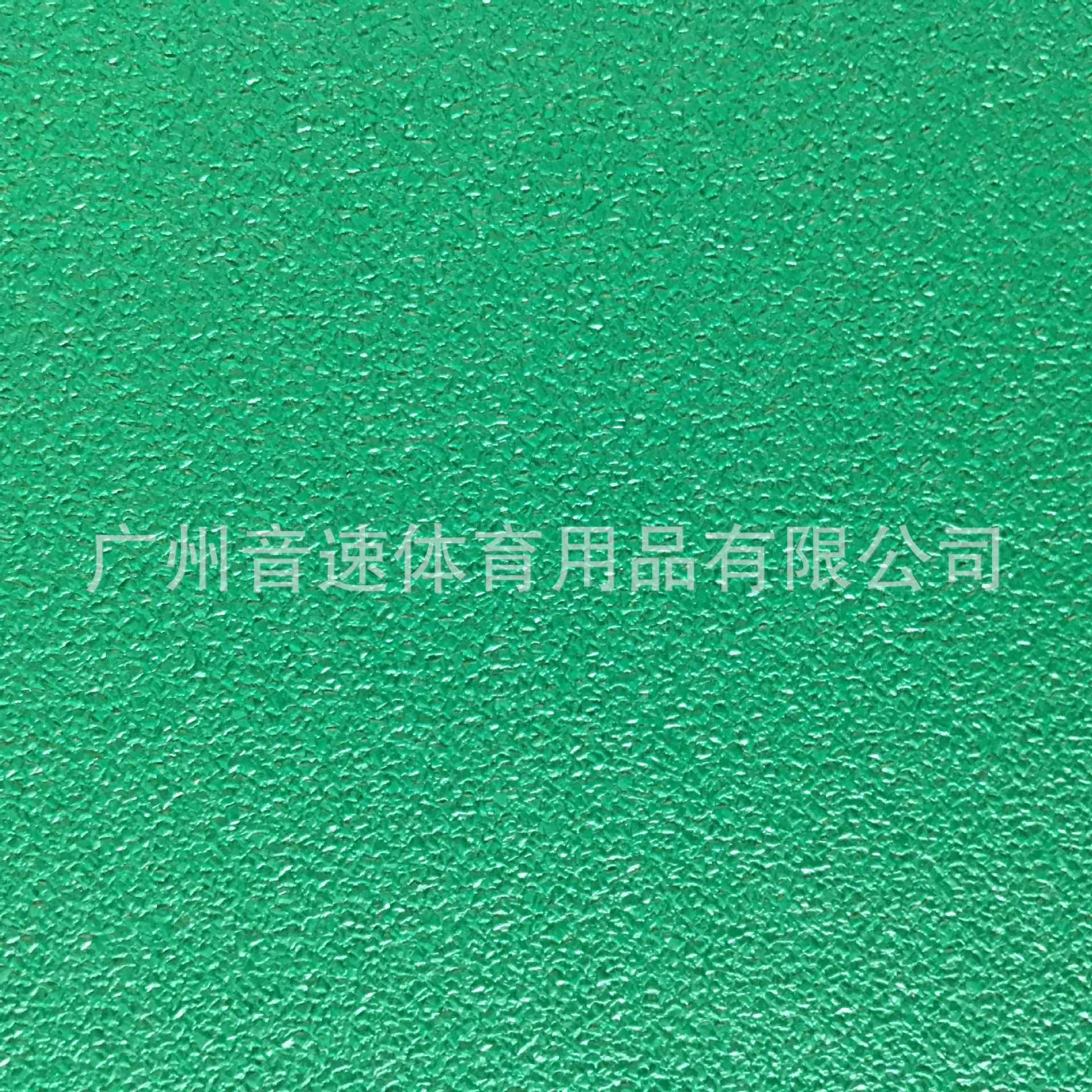 钻石纹5.1mm羽毛球场地安装***室内耐磨PVC地板健身房塑胶垫绿色