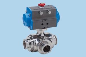 Valbia氣動執行器 三通 8P025600(T) - 8P025800(T) - 8P025500(L) - 8P025700(L)
