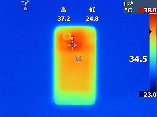 手机电池热像测量