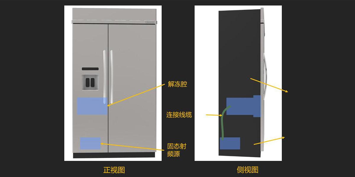 冰箱嵌入式模块示意图