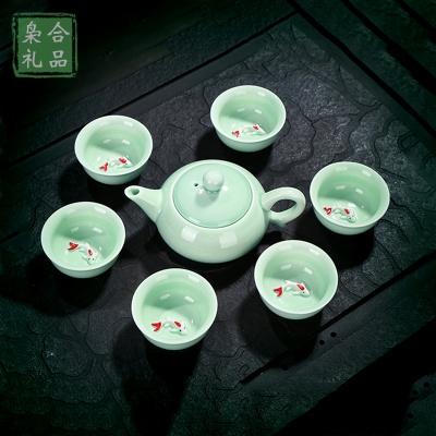 7头青瓷茶具