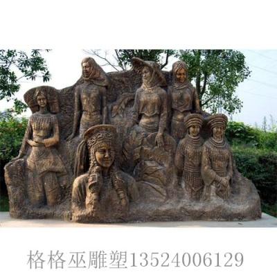 人物砂岩雕塑2