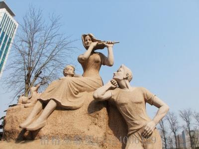 人物砂岩雕塑5