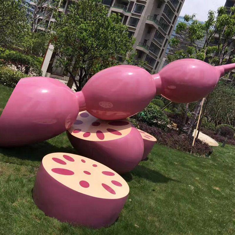 莲藕雕塑玻璃钢雕塑
