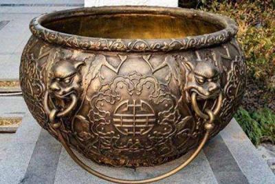 风景观景铸铜水缸