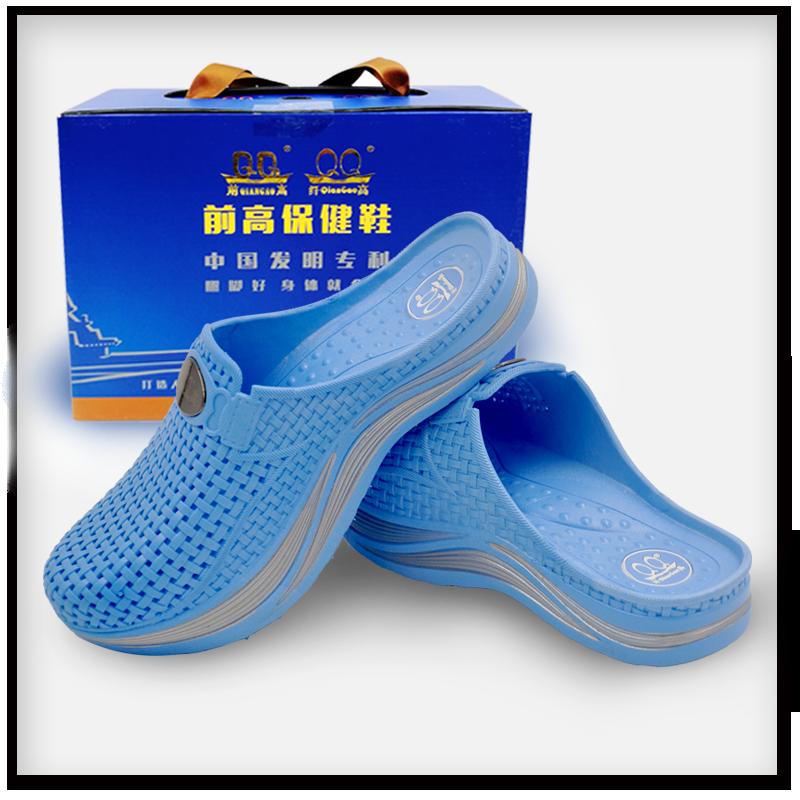 浅蓝色纤高女鞋