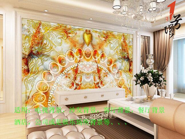 欧式波西米亚黄宝石大理石背景墙
