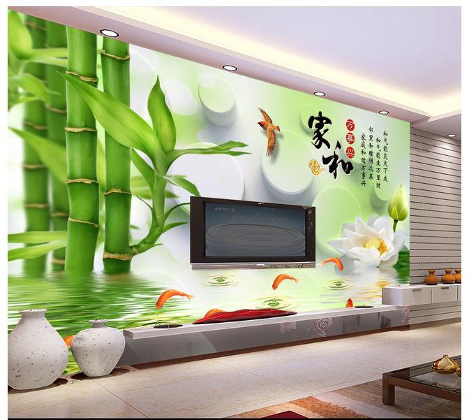 家和万事兴3D立体背景墙