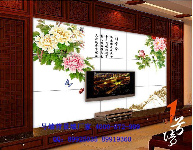 花开富贵牡丹花鸟电视背景墙装饰画