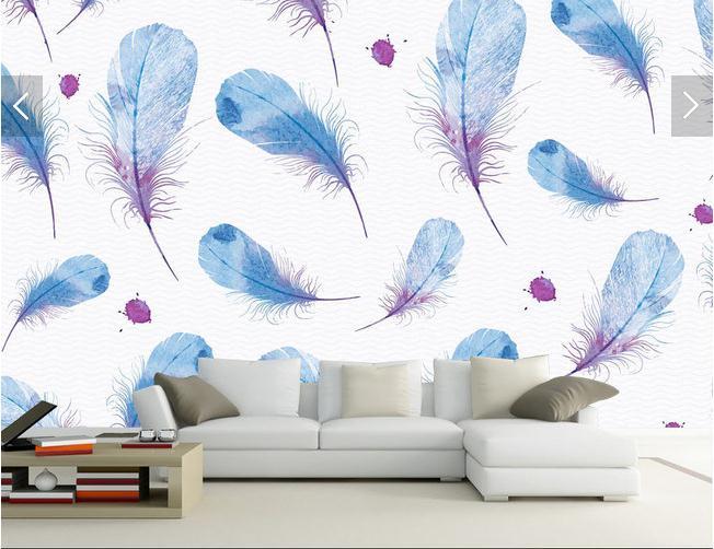 羽毛翅膀鸟毛彩鸟羽电视沙发客厅瓷砖背景墙