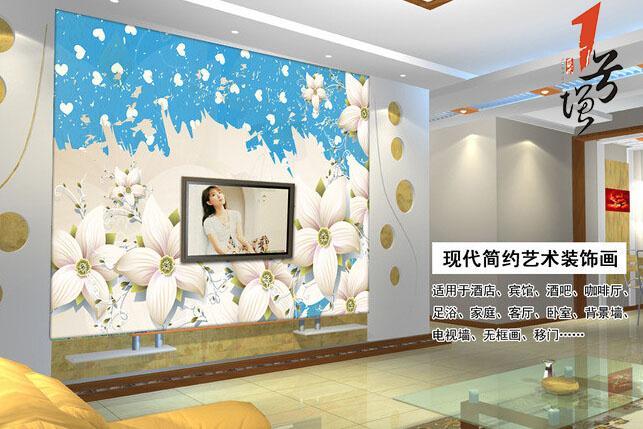 精美欧式花卉电视背景墙