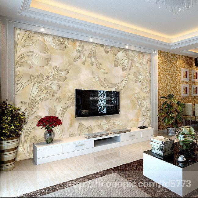 精美欧式花纹大理石电视背景墙