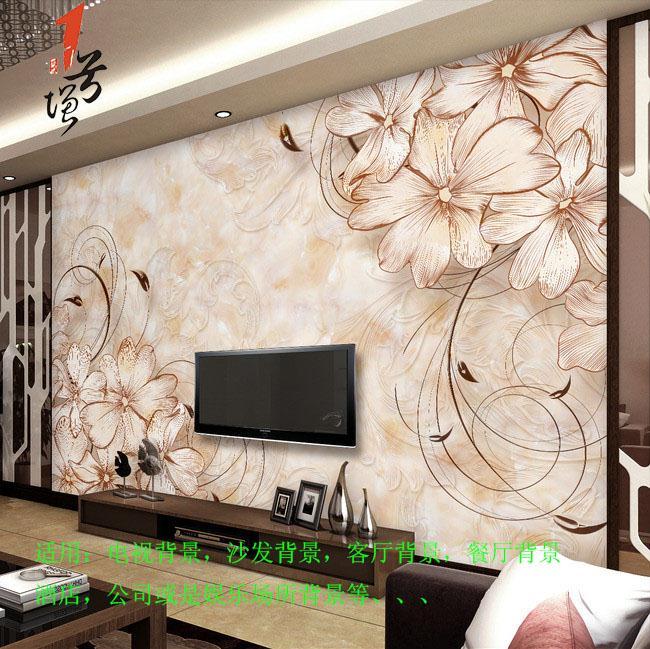 欧式精品花纹客厅大理石电视背景墙画壁纸.tmp