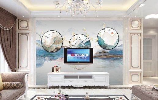 现代简约时尚电视背景墙(78)