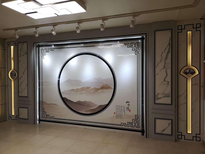 一号墙时尚电视背景墙 渗墨大板石材背景墙(83)