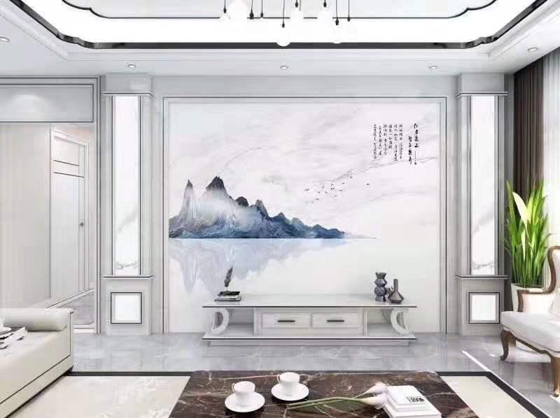瓷砖背景墙3D微晶石高温烧彩雕客厅电视背景墙瓷砖 陶瓷罗马柱(93)