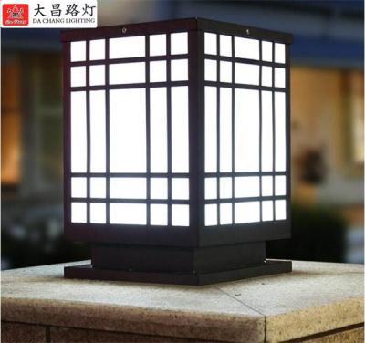 中式柱头灯