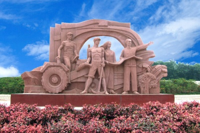 人物砂岩雕塑