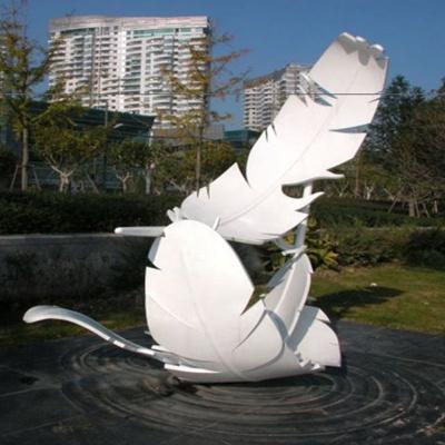 抽象羽毛不锈钢雕塑