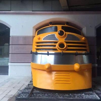 火车头玻璃钢雕塑
