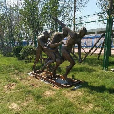 人物体育运动锻铜雕塑
