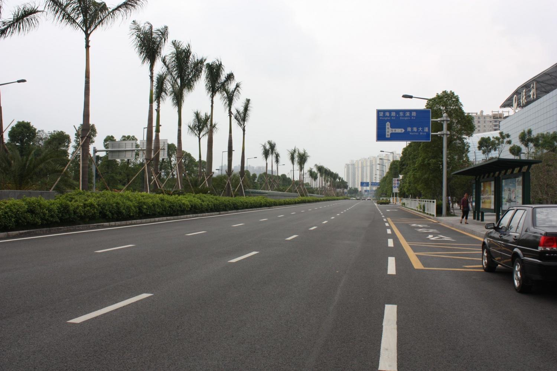 大圃颜峰三路及颜峰二路安装路灯工程