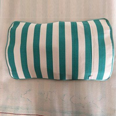 绿白条枕巾40cmx60cm-45cmx65cm